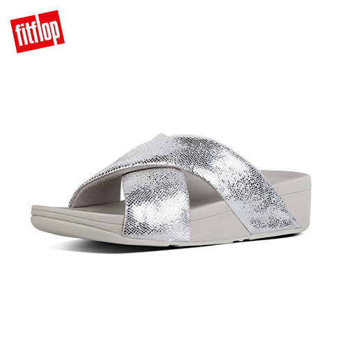 FitFlop - (女款)SWOOP TOE-THONG SANDALS-銀色