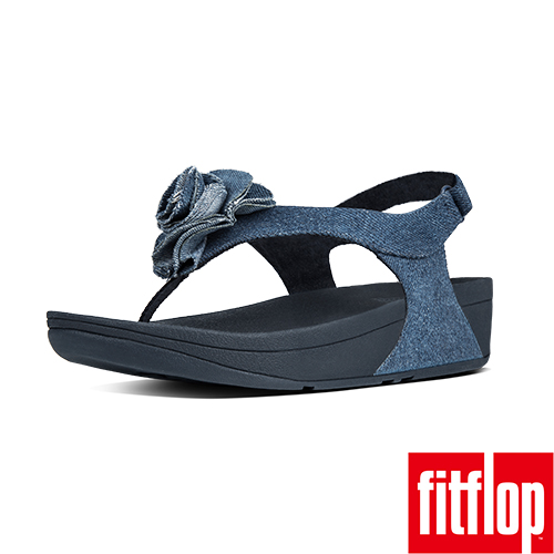 FitFlop™-(女款)FLORRIE™ PATENT BACK-STRAP-丹寧