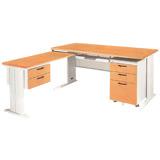 【百樂購】L型木紋電腦桌 KHST206-12