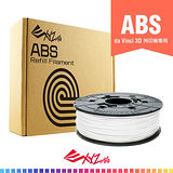XYZprinting雪白色ABS塑料3D列印耗材補充包600g