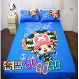 HO KANG 授權航海王單人床包被套三件組-喬巴 GO GO GO