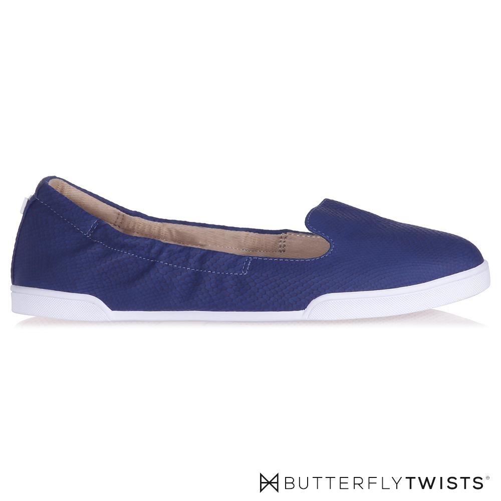 BUTTERFLY TWISTS-JADE記憶軟墊平底鞋-紫晶藍