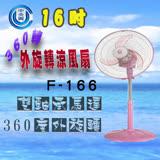 【中央興】16吋360轉外旋轉涼風扇F-166