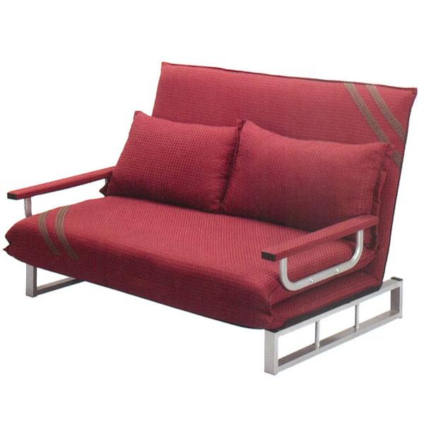 【百樂購】雙人座臥沙發床(紅) KHST261-2