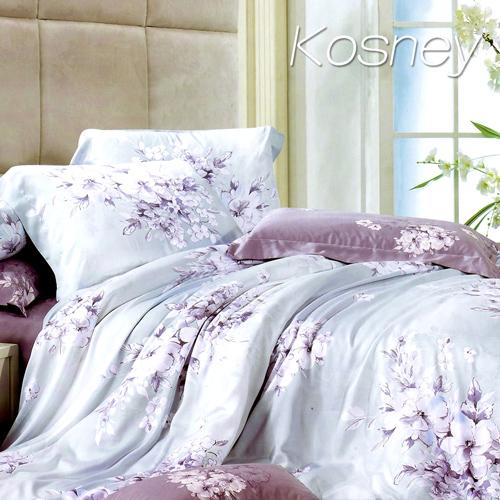 《KOSNEY 夢想花語》特大100%天絲TENCEL四件式兩用被床包組