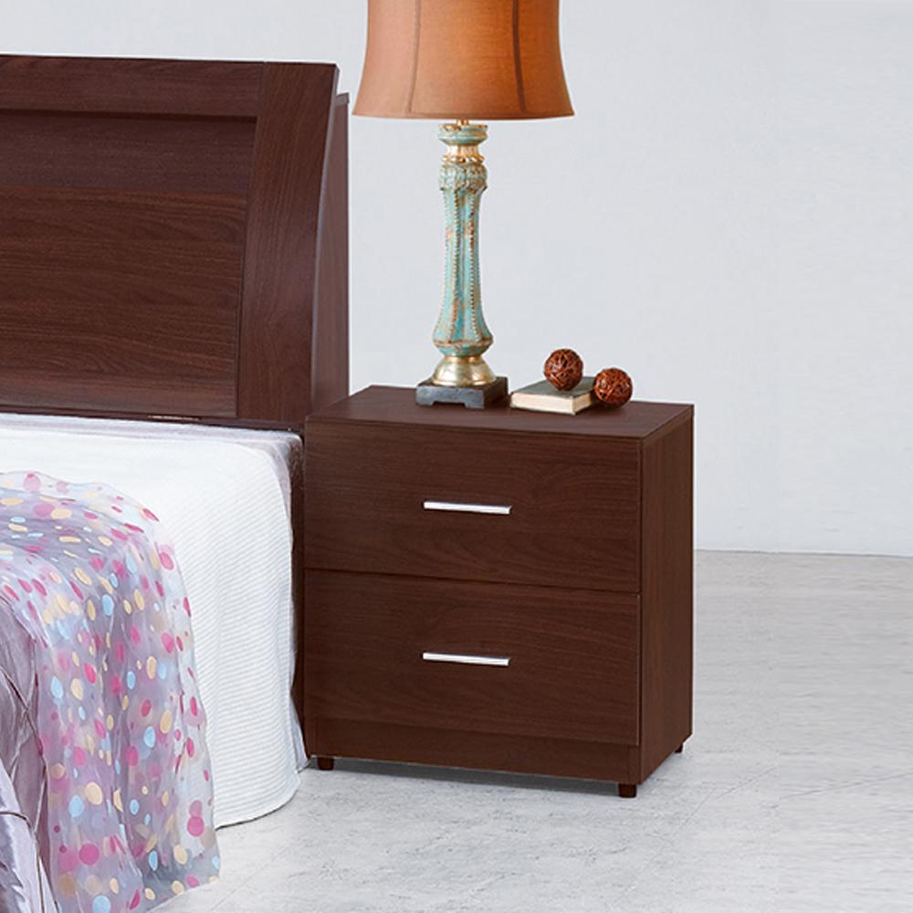 【顛覆設計】碩威1.6尺胡桃色二抽斗櫃/收納櫃/抽屜櫃/床頭櫃