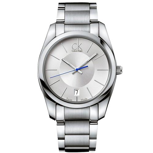 瑞士 Calvin Klein 藍色秒針經典款紳士錶 (K0K21120)