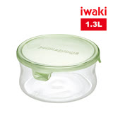 【iwaki】玻璃微波罐 1.3L(圓型綠)