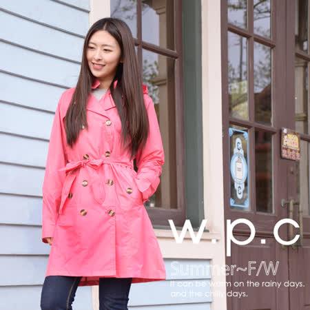 【w.p.c.】雙排釦連帽款。時尚雨衣/風衣