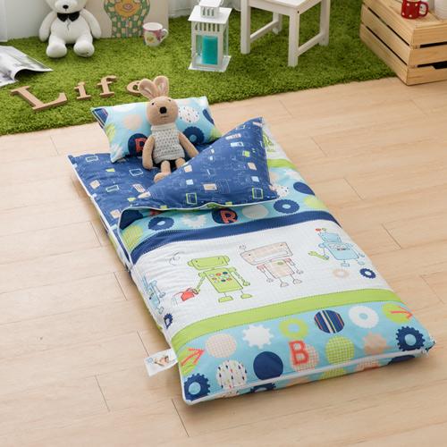 IN HOUSE-開心機器人-200織紗精梳棉-兒童睡袋