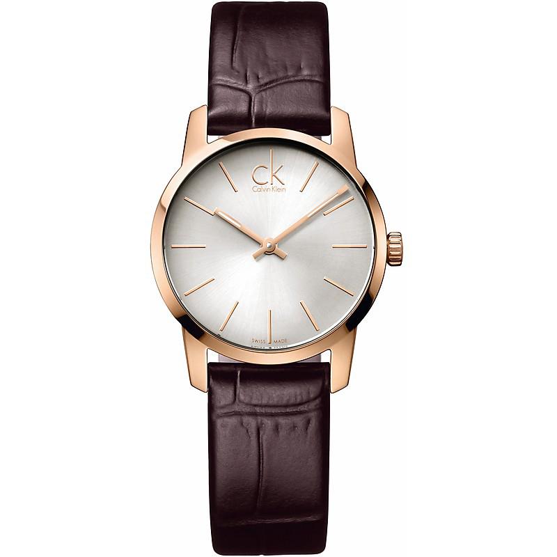 瑞士 Calvin Klein 城市經典玫瑰金簡約腕錶 (K2G23620)