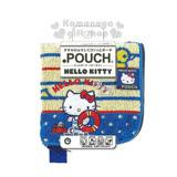 〔小禮堂〕Hello Kitty 毛巾布收納袋《藍.條紋.螃蟹.游泳圈.小鴨》