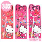 〔小禮堂〕Hello Kitty 造型原子筆《3款隨機出貨.大.粉/紅/白.大臉.蝴蝶結》泡殼紙卡