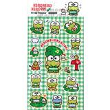 〔小禮堂〕大眼蛙 造型貼紙《綠格紋.葉子.朋友.紅郵筒.閃亮亮》