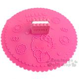 〔小禮堂〕Hello Kitty 造型矽膠杯蓋《桃紅.夾心餅乾.坐姿.糖果》可愛又實用