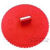 〔小禮堂〕Hello Kitty 造型矽膠杯蓋《紅.夾心餅乾.坐姿.糖果》可愛又實用