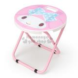 〔小禮堂〕美樂蒂 折疊椅《粉白.大臉.圓型》可折疊收納.春夏野餐系列