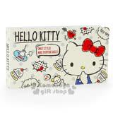 〔小禮堂〕Hello Kitty 橫式票據收納本《米白.點點.手繪風.24頁》