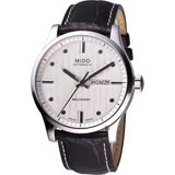 MIDO Multifort 先鋒系列經典機械腕錶-銀x咖啡/42mm M0054301603180