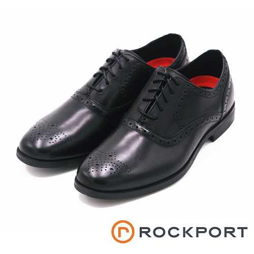 Rockport 紳士正裝雕花紳士皮鞋-黑