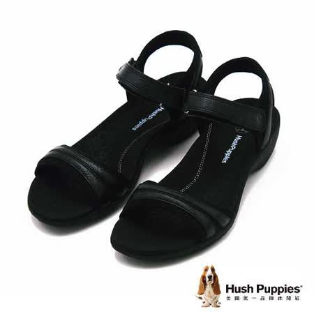 Hush Puppies Athos系列一字帶涼鞋 女鞋-黑(另有橘、深藍)