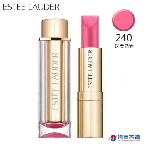 【原廠直營】Estee Lauder 雅詩蘭黛 玩色戀愛唇膏 柔緞乳霜#240玩美派對