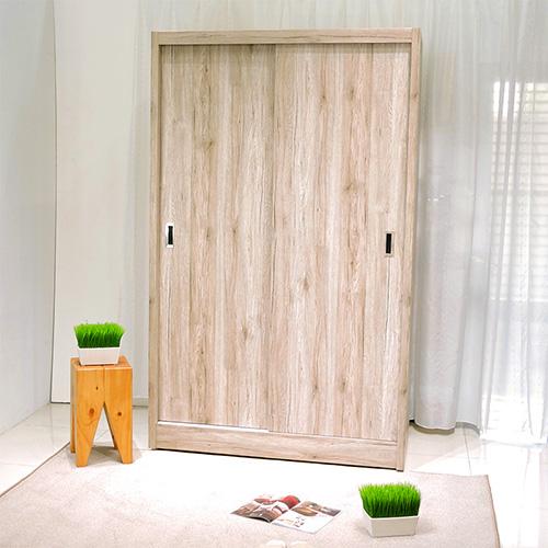 防蛀木心板  北歐浮雕耐磨推門衣櫃
