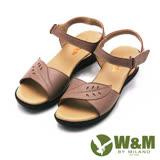 W&M 素色雕花魔鬼氈涼鞋 女鞋-棕(另有黑)