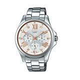 CASIO SHEEN 羅馬晶鑽時尚優質腕錶-金+銀-SHE-3806D-7B