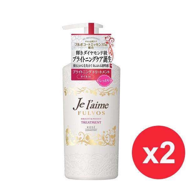 日本高絲KOSE 無矽靈亮澤保濕 潤絲精-紅 (滋潤型 浪漫花果香)500ml X2入
