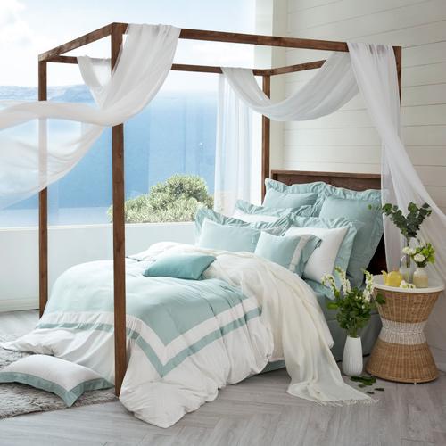 IN HOUSE-SLEEPING BEAUTY -膠原蛋白紗-薄被套床包組(綠色-雙人)