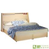 【喬立爾】最愛傢俱-雙子星白橡6尺雙人加大床組(床頭箱式床台+床墊)