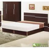 【喬立爾】最愛傢俱-雙子星胡桃6尺雙人加大床組(床台+床墊)