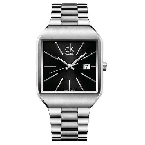 瑞士 Calvin Klein 流行時尚方型紳士錶 (K3L31161)