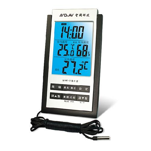 【Dr.AV】專業級室內外藍光溫濕度計(GM-1512)/2入
