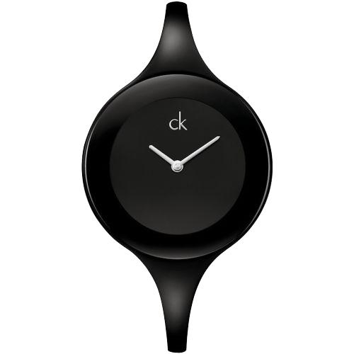 瑞士 Calvin Klein 時尚超細手鐲型造型錶 (K2823602)