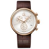 瑞士 Calvin Klein 時尚流行三眼計時紳士錶 (K2N286G6)