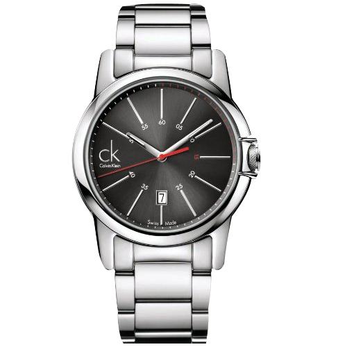 瑞士 Calvin Klein 紅秒針經典款石英錶 (K0A21561)