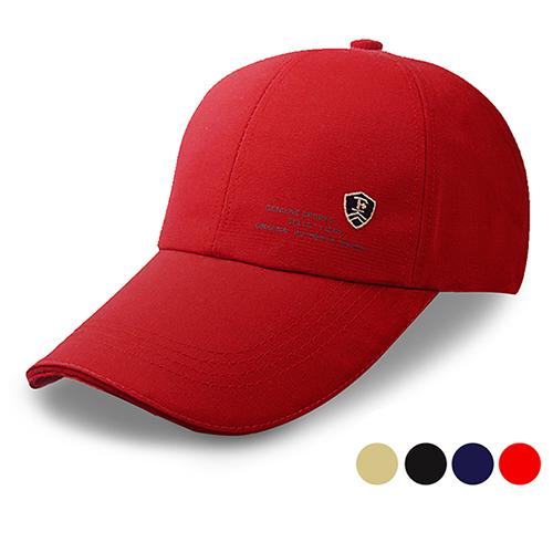 【活力揚邑】防曬防紫外線防風戶外運動透氣鴨舌帽盾形F刺繡棒球帽-四色可選