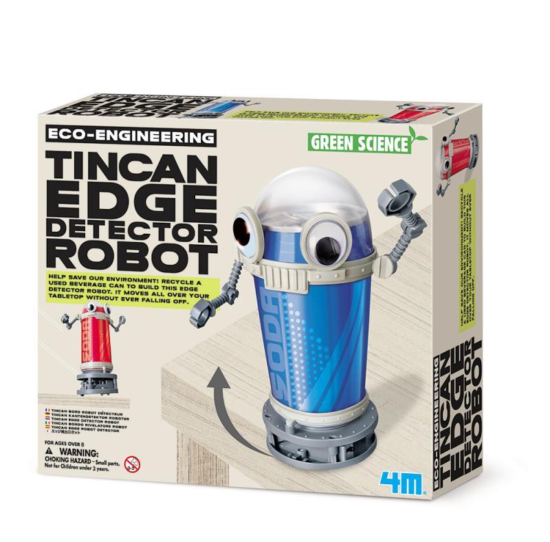 【4M 創意 DIY】00-03370 環保巡邏員 Tin Can Edge Detector Robot