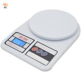 月陽圓型3kg家用去皮扣重液晶背光版電子秤料理秤廚房秤(SF400C)