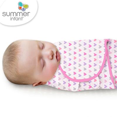 美國 Summer Infant SwaddleMe 可調式懶人包巾-小號,浪漫甜心