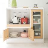 Peachy life 日系電器收納廚房櫃/置物櫃/收納櫃/電器架/餐廚櫃 (三色可選)