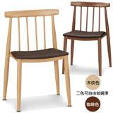 椅吧 日系簡約皮面餐椅(兩色可選)