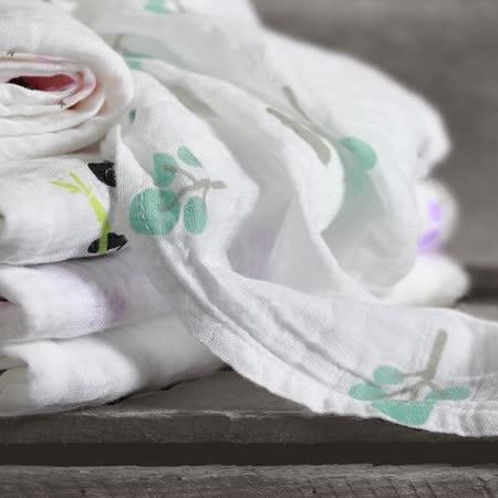 加拿大lulujo 透氣純棉嬰幼兒包巾2入
