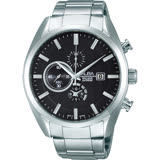 ALBA 領先菁英三眼計時腕錶-黑/44mm YM92-X262D(AF8T85X1)