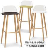 椅吧 透明椅背設計吧台椅(三色可選)