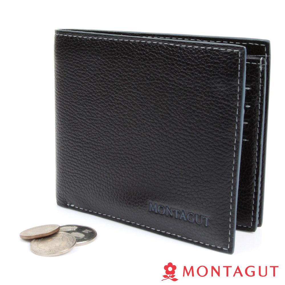 【MONTAGUT夢特嬌】精品頭層牛皮短夾-8卡1照2夾1SIM卡層(653)