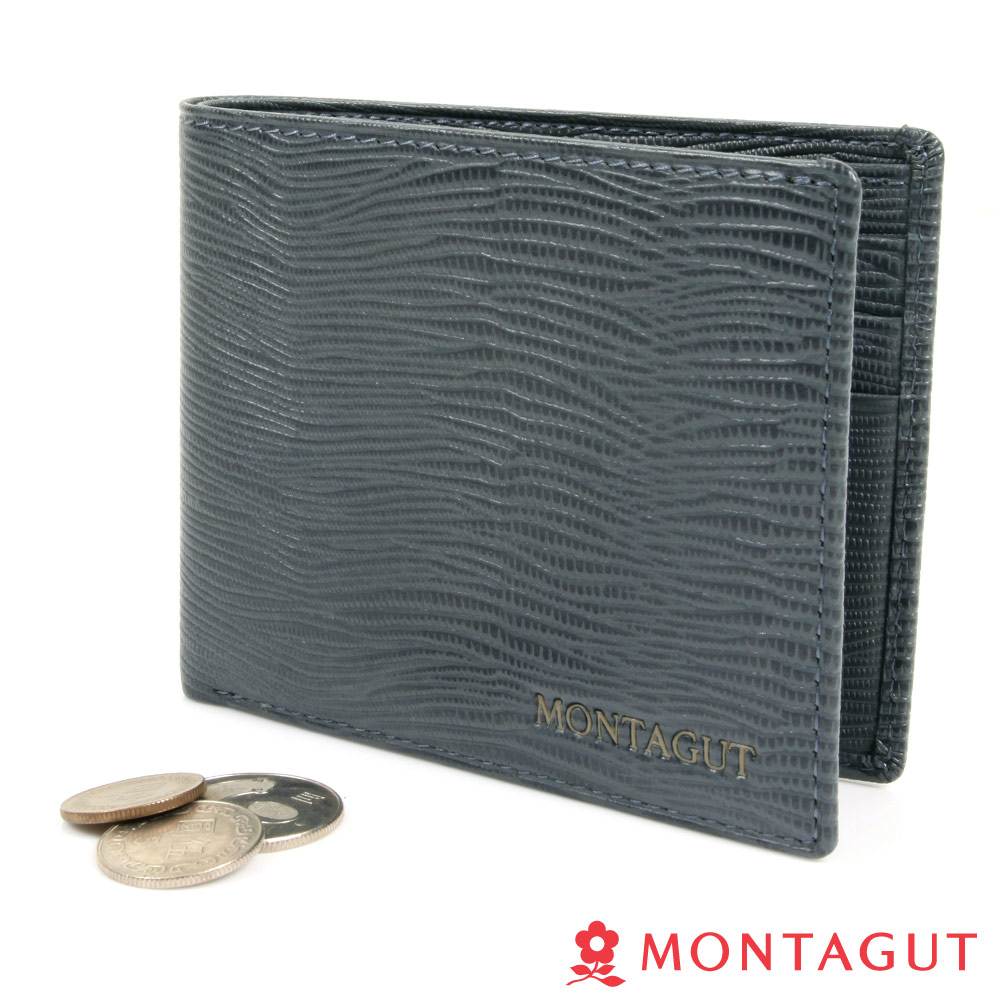 【MONTAGUT夢特嬌】Cross Bag 精品頭層牛皮短夾-12卡1照2夾(688)