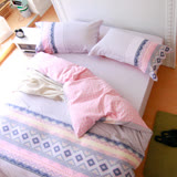 鴻宇HongYew 《拉斐爾》純棉 雙人四件式薄被套床包組